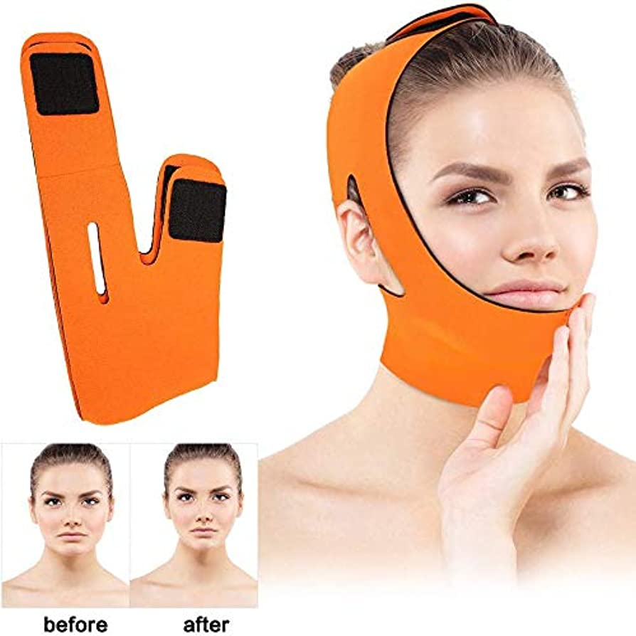 アラバマしたがって時間とともに顔のリフティングスリミングベルト、Vフェイスラインベルト通気性のチンはアンチリンクル睡眠を持ち上げるダブルチンストラップを下げストラップマスク