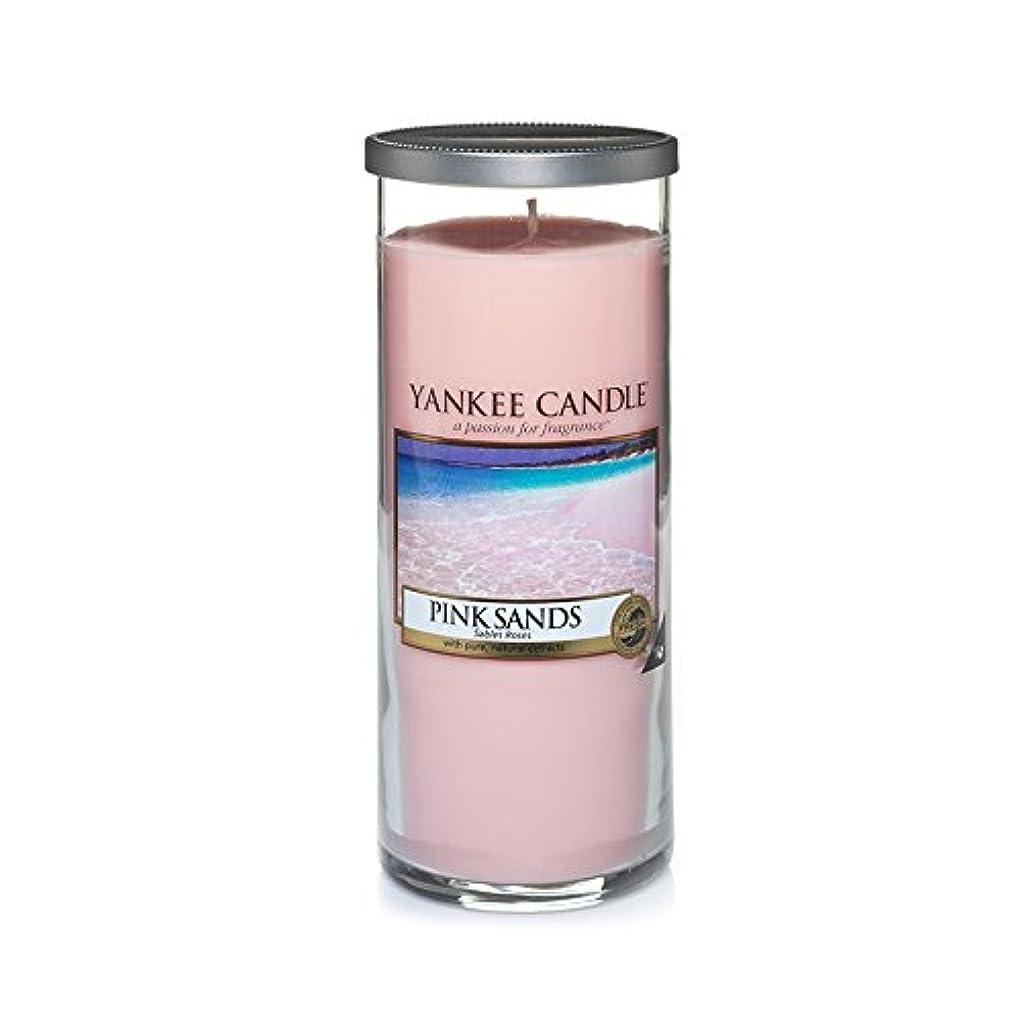 平らにする持参褐色Yankee Candles Large Pillar Candle - Pink Sands? (Pack of 2) - ヤンキーキャンドル大きな柱キャンドル - ピンクの砂? (x2) [並行輸入品]