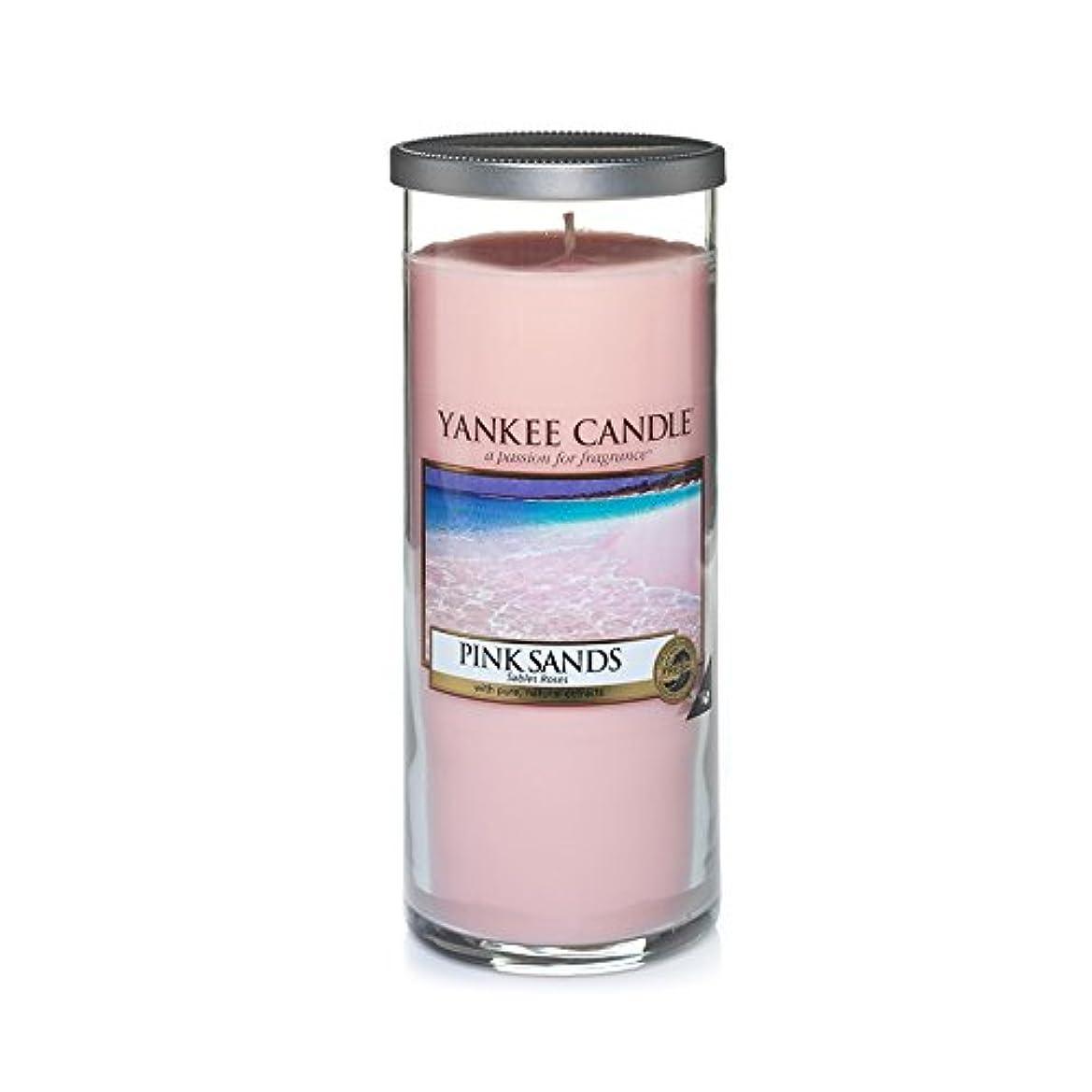 つま先進化五十Yankee Candles Large Pillar Candle - Pink Sands? (Pack of 2) - ヤンキーキャンドル大きな柱キャンドル - ピンクの砂? (x2) [並行輸入品]