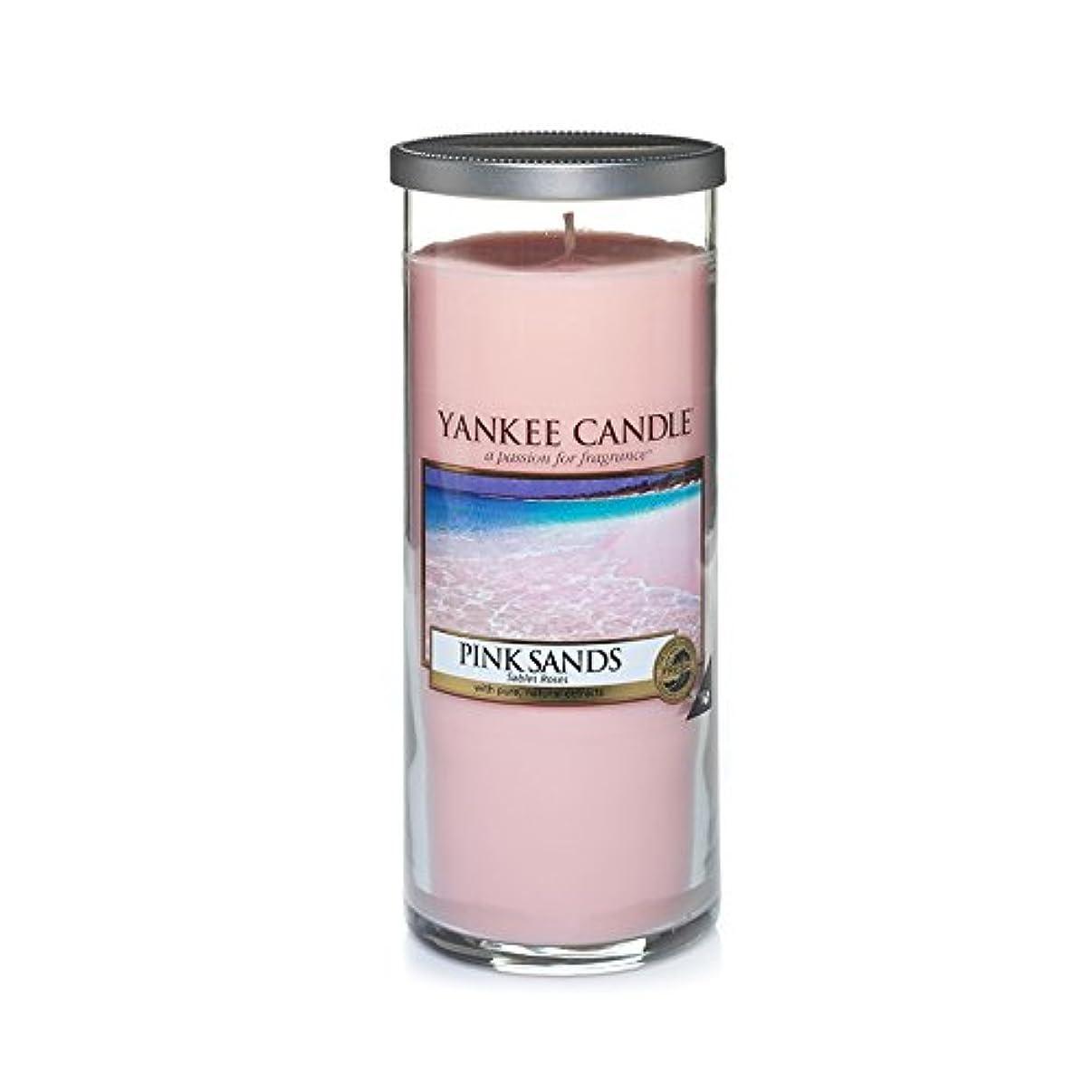 知覚グレートオーク直感Yankee Candles Large Pillar Candle - Pink Sands? (Pack of 2) - ヤンキーキャンドル大きな柱キャンドル - ピンクの砂? (x2) [並行輸入品]