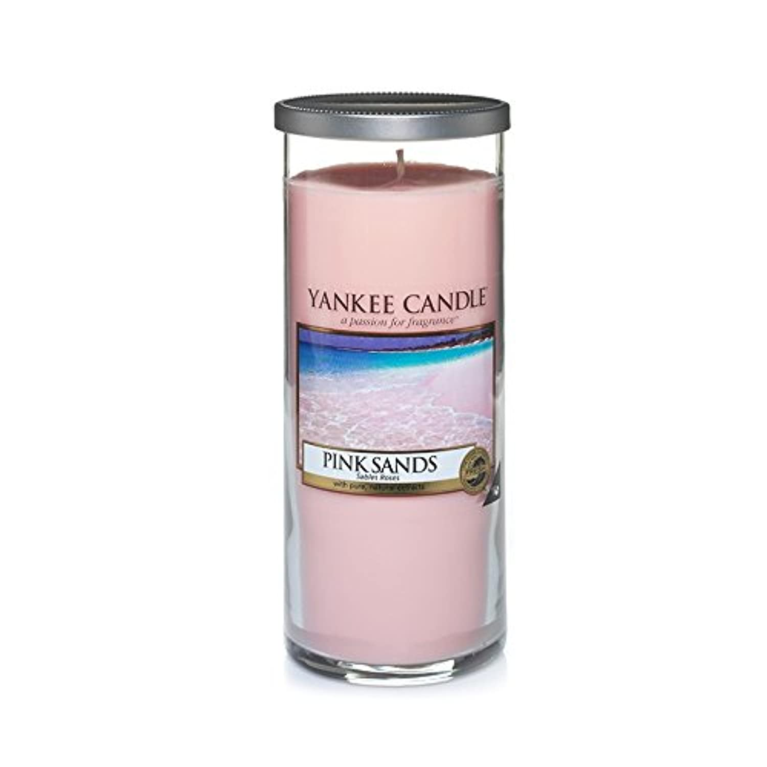 Yankee Candles Large Pillar Candle - Pink Sands? (Pack of 2) - ヤンキーキャンドル大きな柱キャンドル - ピンクの砂? (x2) [並行輸入品]
