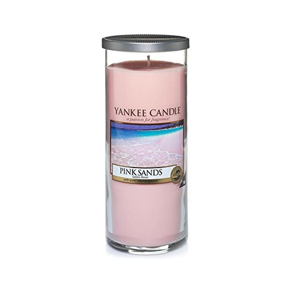 挨拶それによって物思いにふけるYankee Candles Large Pillar Candle - Pink Sands? (Pack of 2) - ヤンキーキャンドル大きな柱キャンドル - ピンクの砂? (x2) [並行輸入品]