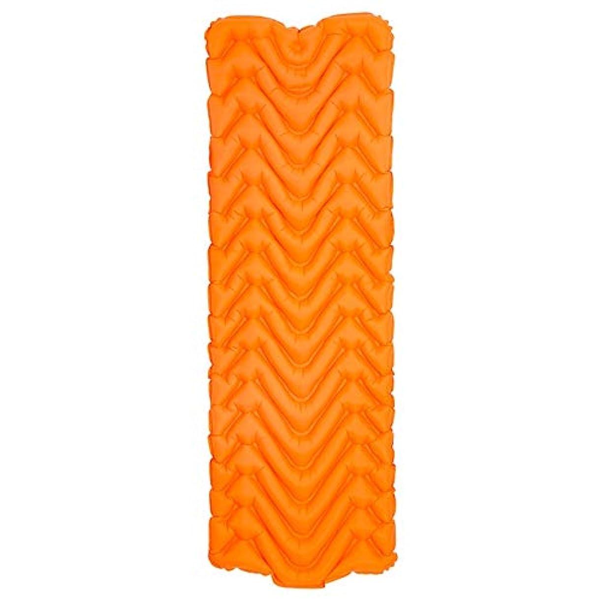 はちみつ検索吸収Jia Xing エアベッド屋外テントスリーピングパッドシングルTPU超軽量ポータブルMタイプキャンプエアベッドカーマットレスエアベッド(4色) エアベッド (Color : Orange)