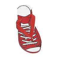 [Severyn] キッズ・子供・ジュニア ボーイズ スニーカープリント ビーチサンダル フリップフロップ サマーサンダル 夏用サンダル靴 男の子 (EUR 32-33) (レッド)