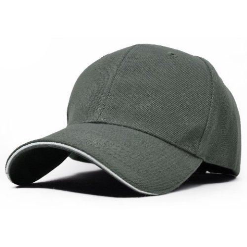 【ツバライン入り】 シンプル 無地 コットン キャップ 帽子 17カラー 白 黒 赤 グレー 他 (グレー)
