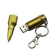 ポータブルUSB2.0新しいミニメタル容量USB Uディスクガン形状USBフラッシュメモリースティックUSB2.0ミニ亜鉛USBフラッシュドライブ(ブロンズ8G)