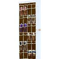 靴オーガナイザー ドア吊り下げ式 Mesh Pockets ブラウン BO-002-2