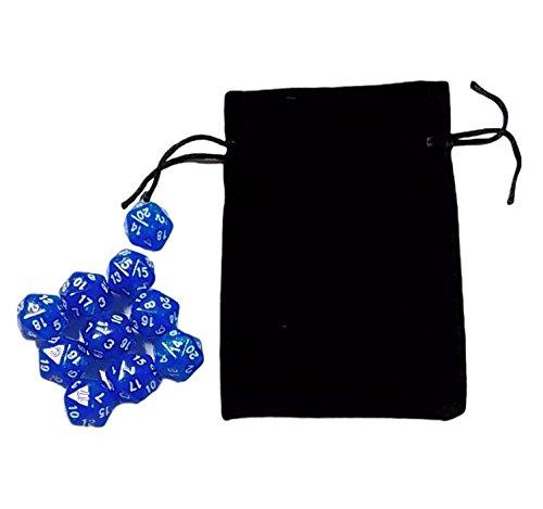 (ディフレコ) Difreco 【 収納 袋 付き 】 パーティー 卓上 ゲーム 占い に 多面体 ( 20 面 ) で カラフル な ダイス サイコロ (ブルー)