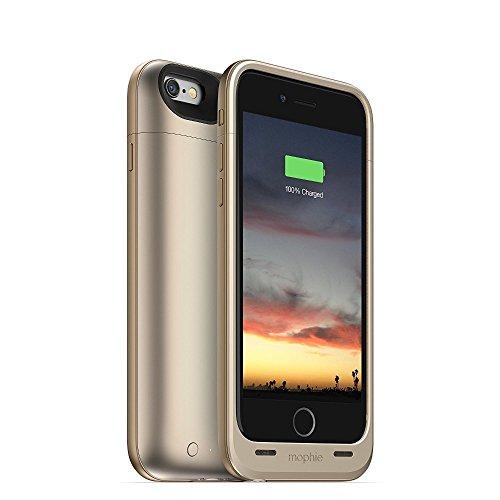 mophie juice pack air - Slim Protective Mobile Battery Pack Case for iPhone 6/6s - Gold by mophie