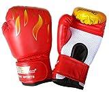 軽くて 通気性 のよい ボクシング グローブ メッシュ 素材 で 練習 も 快適 ( 子供用 ( 赤 ))