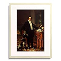 Lopez, Vicente,1772-1850 「Bildnis des Marques de la Remisa (Bankier und Sammler).」 額装アート作品