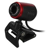 ウェブカメラ,SODIAL(R)USB 2.0クリップ-オン ウェブカメラカメラ 5メガピクセル マイクMIC付き スカイプHDのため