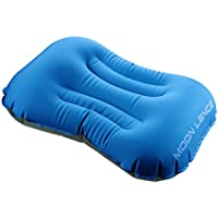 Moon Lence エアーピロー 空気枕 枕 携帯クッション コンパクト アウトドア 旅行トラベル キャンプ 腰と首を支える 収納袋が付き オレンジ/グリーン/ブルー