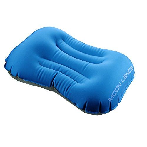 Moon Lenceエアーピロー 空気枕 枕 携帯クッション コンパクト アウトドア 旅行トラベル キャンプ 腰と首を支える 収納袋が付き オレンジ/グリーン/ブルー