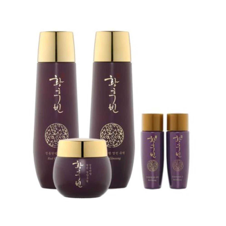 ファンフビン[韓国コスメHwanghoobin] Red Ginseng Set 紅参3セット,ギフトセット,樹液/乳液/クリーム [並行輸入品]