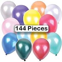パーティーballoons-144 11インチのパックで様々な色、パーティや結婚式、デコレーション、Carnivals、、休日、記念日、同窓会、卒業、誕生日、ベビーシャワー&多くのMore – by Katzco