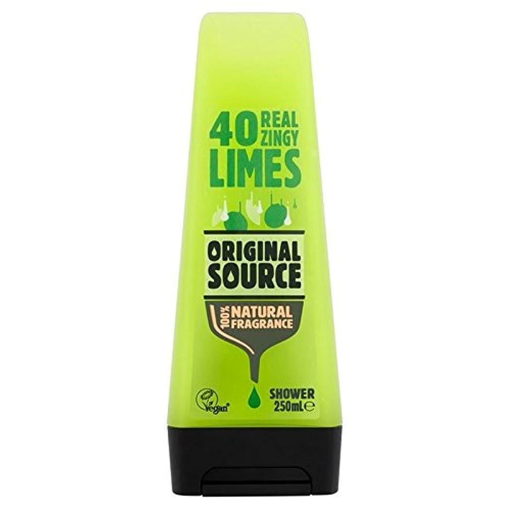 エーカービームメインOriginal Source Lime Shower Gel 250ml (Pack of 6) - 元のソースライムシャワージェル250ミリリットル x6 [並行輸入品]