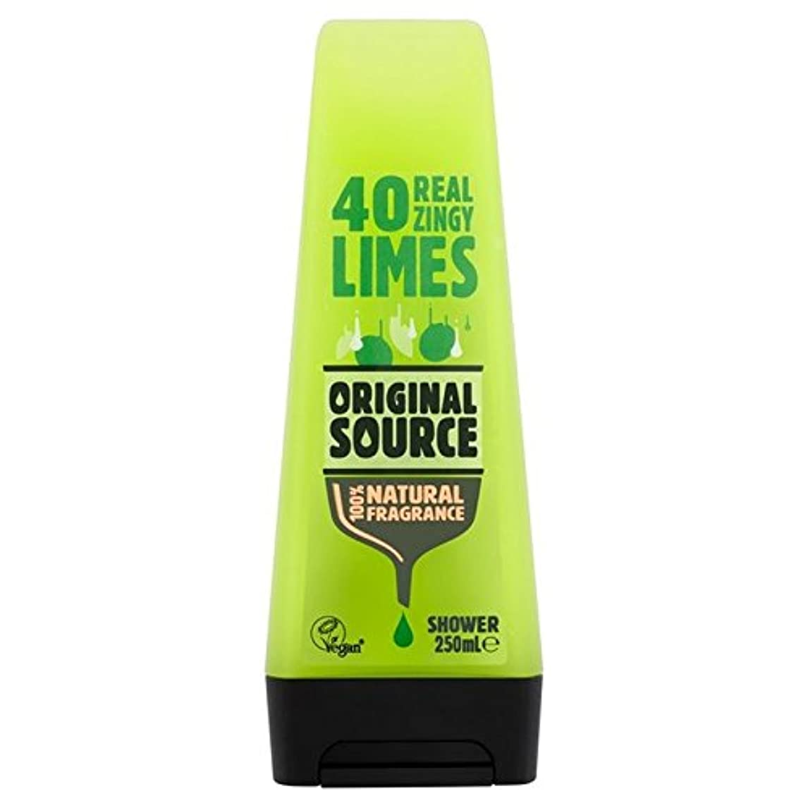 パースマサッチョプレミア元のソースライムシャワージェル250ミリリットル x2 - Original Source Lime Shower Gel 250ml (Pack of 2) [並行輸入品]