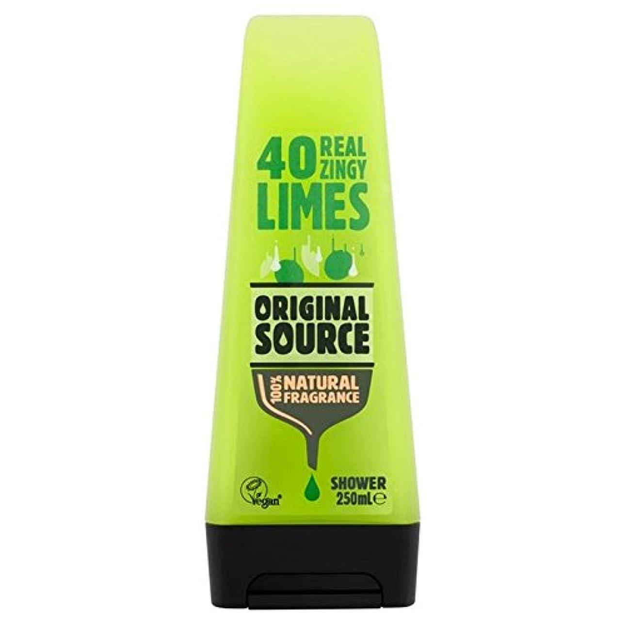 活力昨日郵便屋さん元のソースライムシャワージェル250ミリリットル x2 - Original Source Lime Shower Gel 250ml (Pack of 2) [並行輸入品]