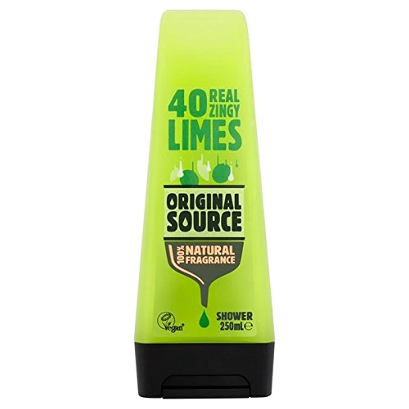 赤外線ソーシャル合図Original Source Lime Shower Gel 250ml (Pack of 6) - 元のソースライムシャワージェル250ミリリットル x6 [並行輸入品]