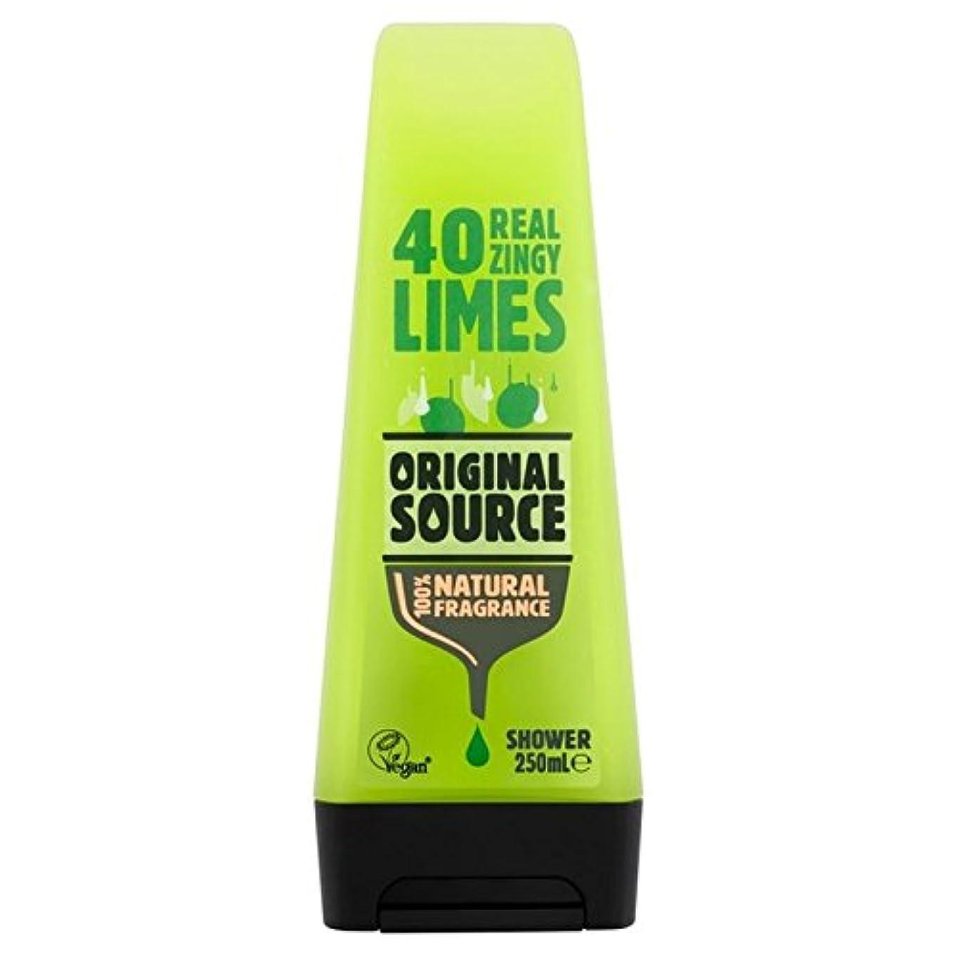 不誠実消去ブラシ元のソースライムシャワージェル250ミリリットル x4 - Original Source Lime Shower Gel 250ml (Pack of 4) [並行輸入品]