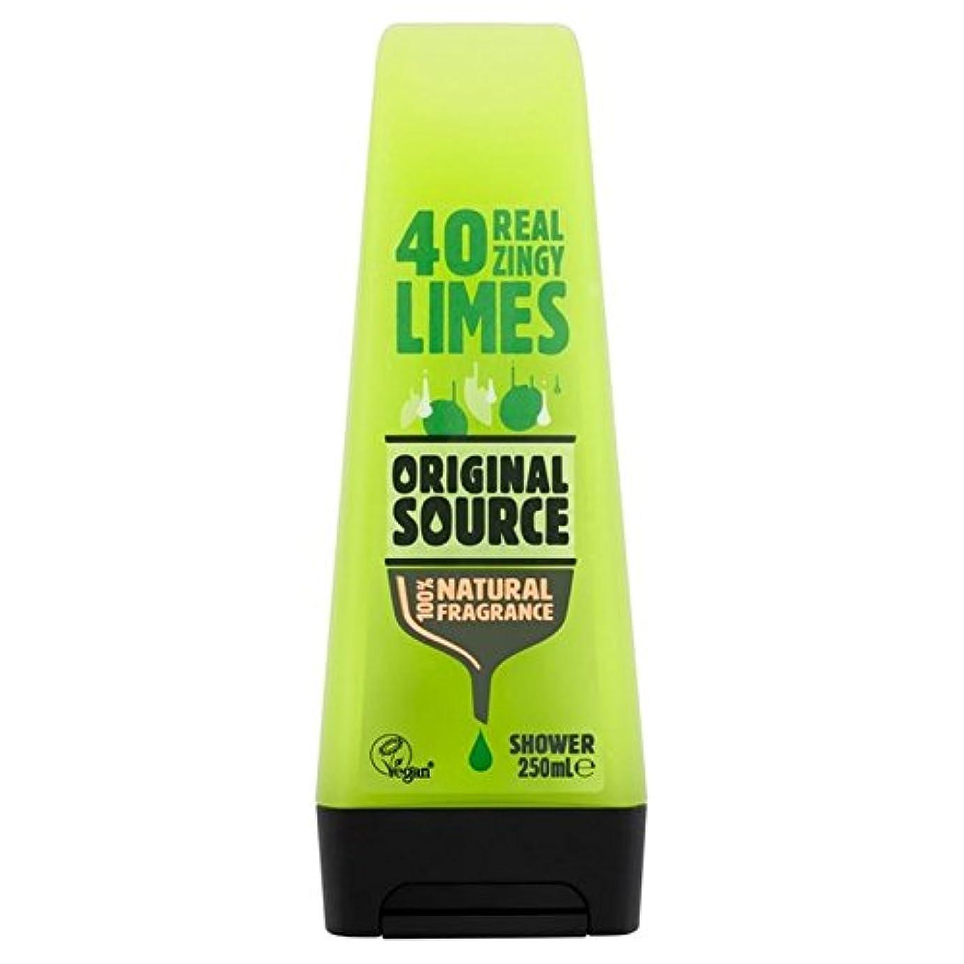 ランタン浴足首Original Source Lime Shower Gel 250ml - 元のソースライムシャワージェル250ミリリットル [並行輸入品]