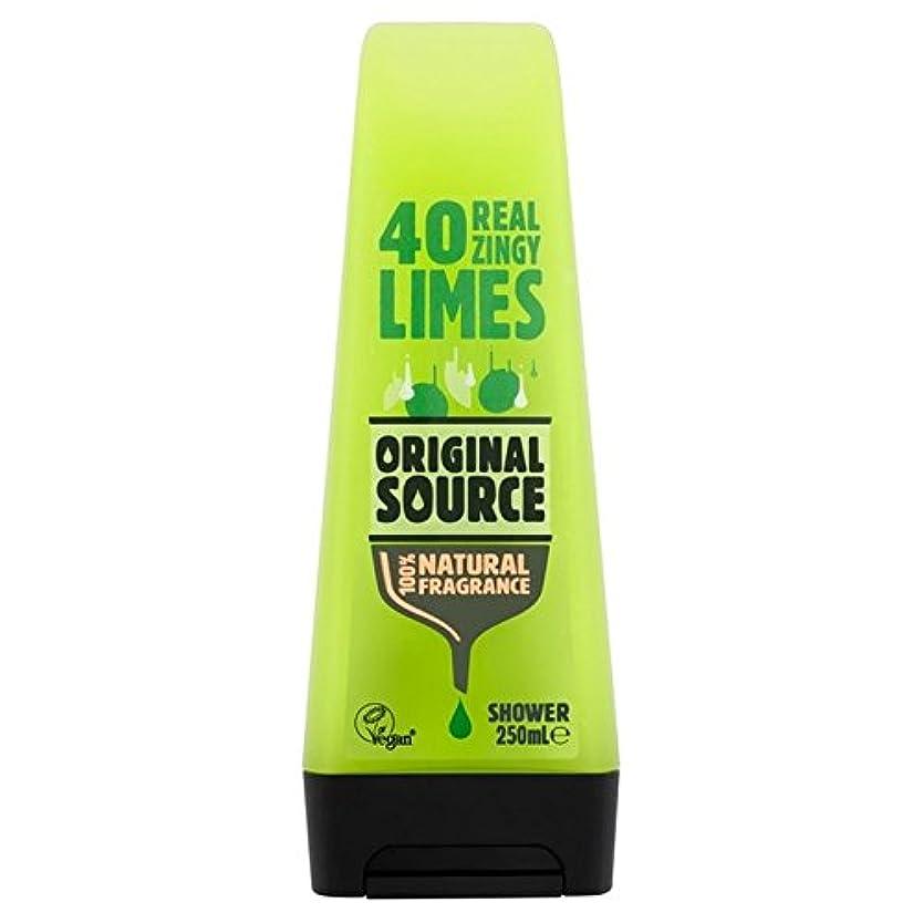 ごみベーカリー圧縮元のソースライムシャワージェル250ミリリットル x4 - Original Source Lime Shower Gel 250ml (Pack of 4) [並行輸入品]