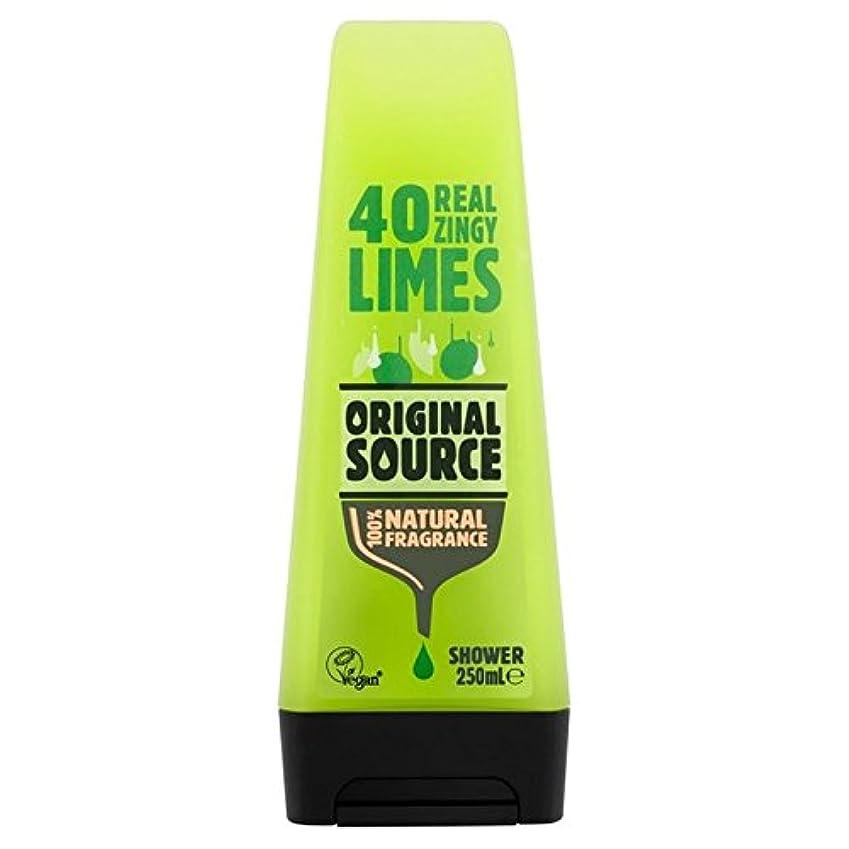 自我可動式遺産Original Source Lime Shower Gel 250ml - 元のソースライムシャワージェル250ミリリットル [並行輸入品]