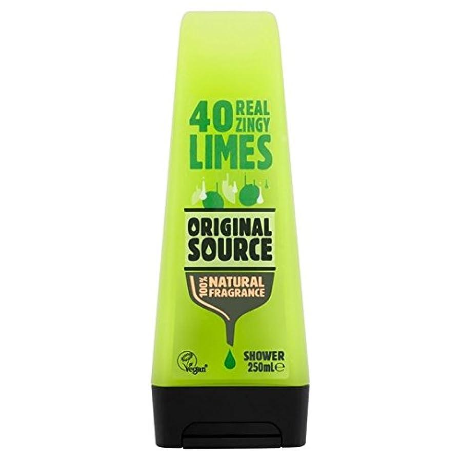 浸食寄り添うアッティカス元のソースライムシャワージェル250ミリリットル x2 - Original Source Lime Shower Gel 250ml (Pack of 2) [並行輸入品]