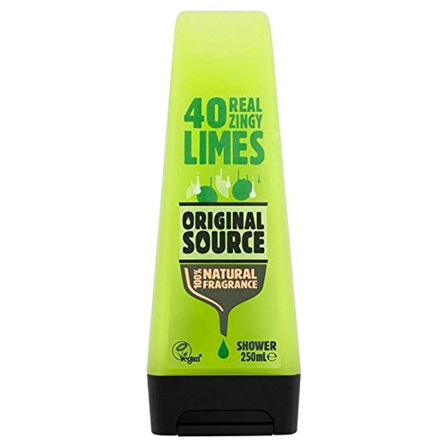 小道具共和党中元のソースライムシャワージェル250ミリリットル x2 - Original Source Lime Shower Gel 250ml (Pack of 2) [並行輸入品]