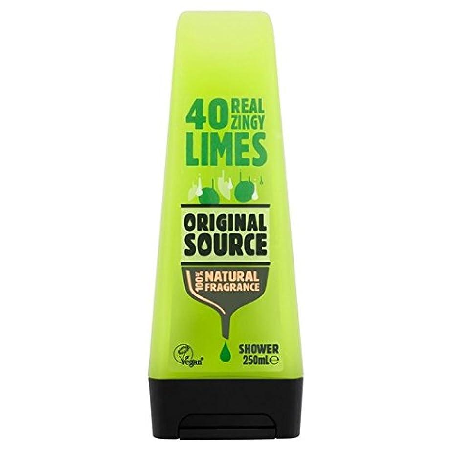 追加信仰露骨なOriginal Source Lime Shower Gel 250ml (Pack of 6) - 元のソースライムシャワージェル250ミリリットル x6 [並行輸入品]