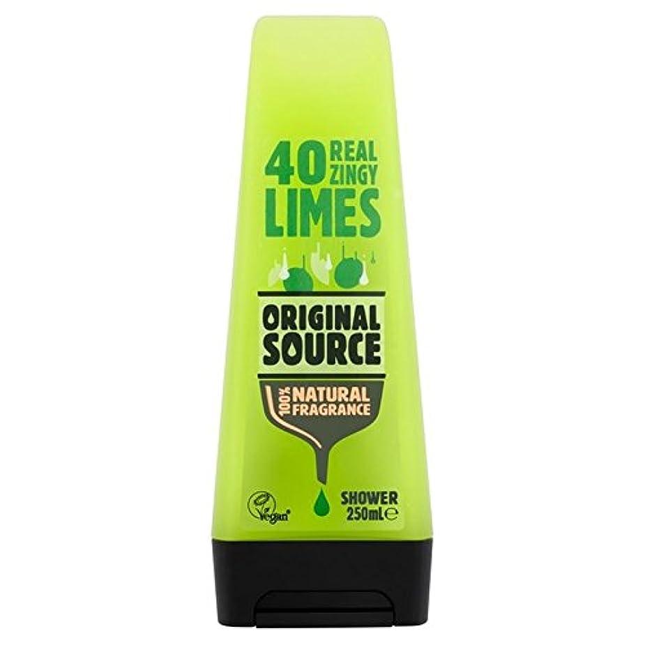 弾性最適回復元のソースライムシャワージェル250ミリリットル x2 - Original Source Lime Shower Gel 250ml (Pack of 2) [並行輸入品]