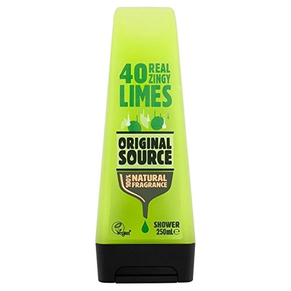 クリップディンカルビル行方不明Original Source Lime Shower Gel 250ml (Pack of 6) - 元のソースライムシャワージェル250ミリリットル x6 [並行輸入品]