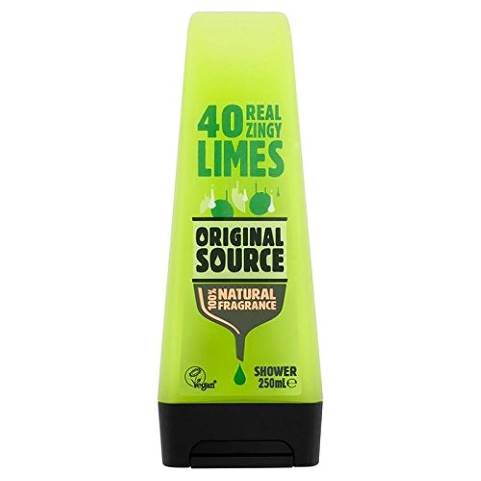 心から終点死の顎元のソースライムシャワージェル250ミリリットル x4 - Original Source Lime Shower Gel 250ml (Pack of 4) [並行輸入品]