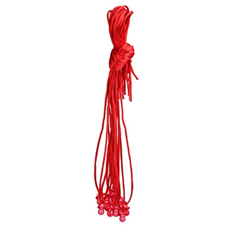 Perfk 小型 おしゃぶりデザイン ネックレス ゲーム賞品 ベビーシャワー ギフト 10個入り 全9色 - 赤