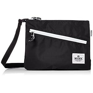 [レジスタ] サコッシュバッグ 軽量 PVC ナイロン メンズ レディース 男女兼用 ショルダーバッグ ミニ ボディバッグ 小さめ 黒 白 6カラー 560 BK ブラック