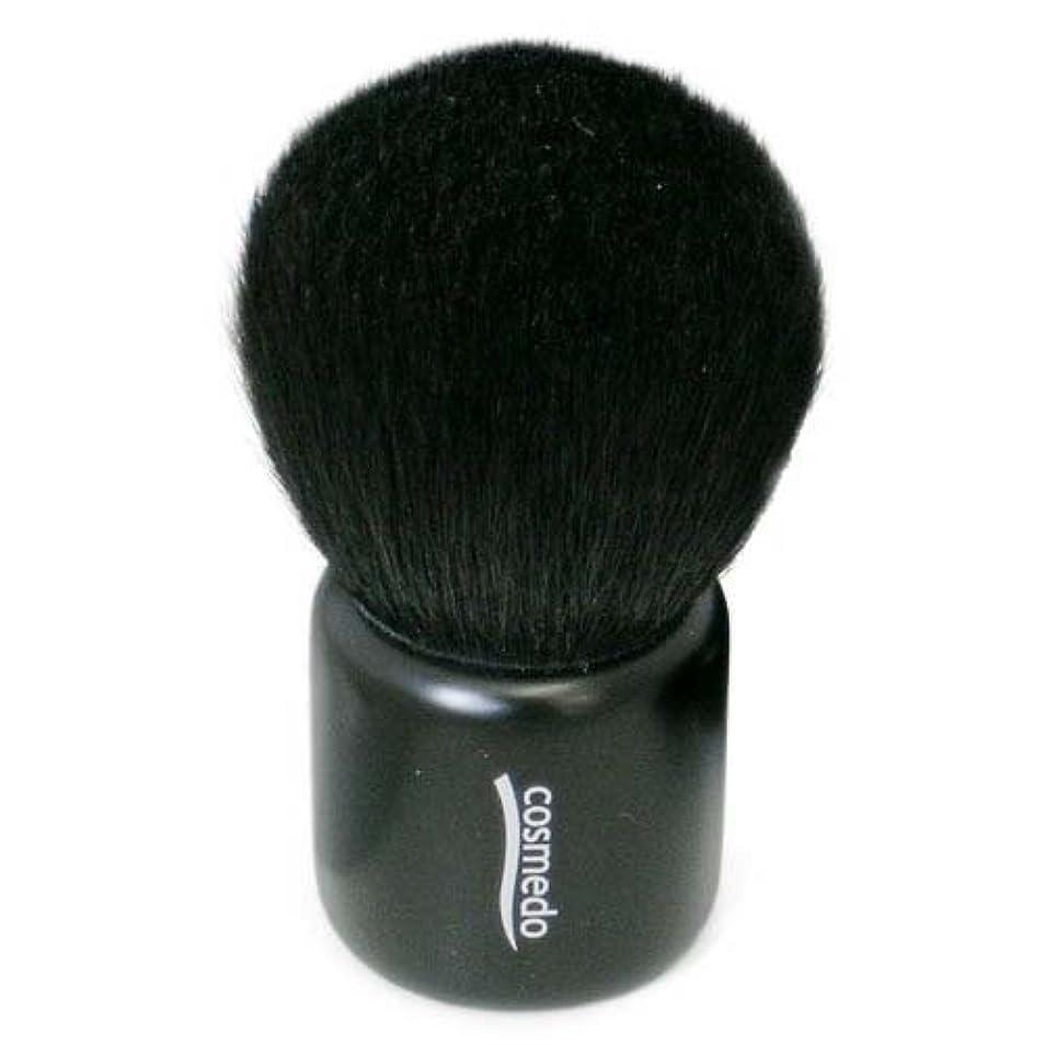 消えるアルコーブにおい熊野筆 メイクブラシ コスメ堂 灰リス入り きのこ ブラシ(フェイスブラシ/チークブラシ/きのこ筆) 日本製 ブラック(黒) E-23K