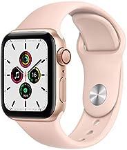 最新 Apple Watch SE(GPS + Cellularモデル)- 40mmゴールドアルミニウムケースとピンクサンドスポーツバンド