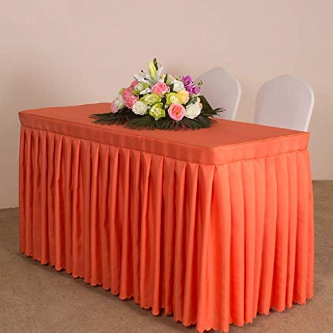 啓示不信絶滅HXLG テーブルクロス テーブルクロス表スカート、表カバー表にはソリッドカラー平織り会議テーブルクロス展示活動チェック表スカートテーブルを設定します。 (Color : 4#, Size : 180*45*75CM)