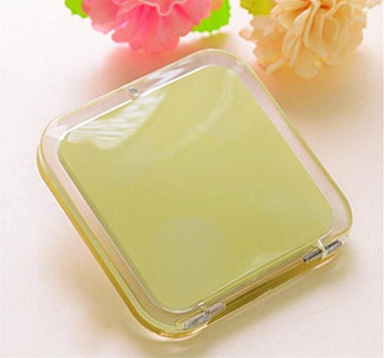 HuaQingPiJu-JP ミニスクエアシンプルキャンディ小さなガラスミラーサークル工芸装飾化粧品アクセサリー黄色