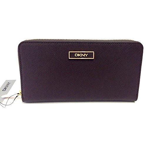 (ダナキャラン ニューヨーク) DKNY Donna Karan Saffiano Leather Zip Around Wallet ダナキャラン ジップアラウンド長財布 (Burgundy) [並行輸入品]