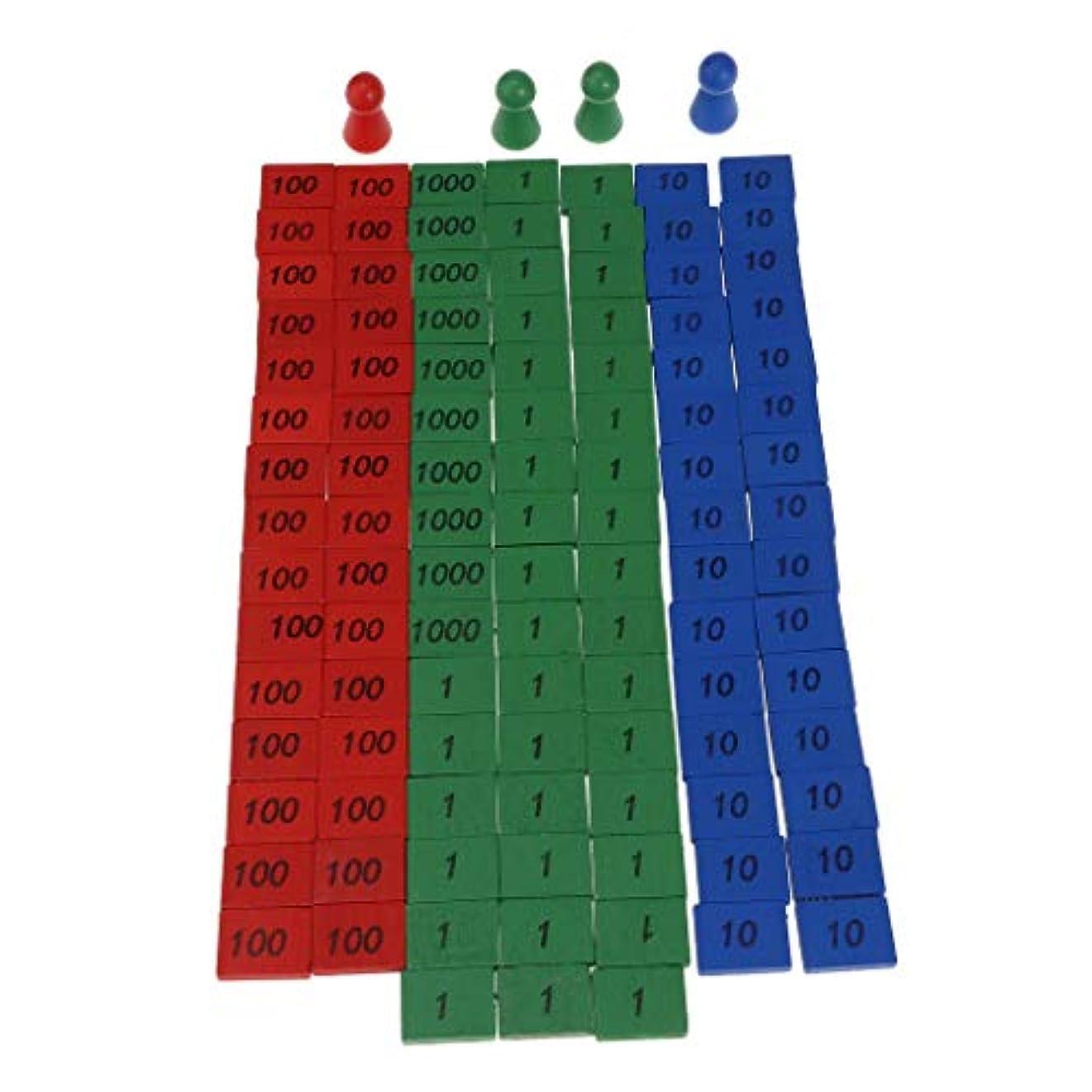 結婚式ホット鼓舞するT TOOYFUL カラフルな 木製 ラウンドヘッドコーン 数字の小片数 数学 子供 教育玩具 木製ピース