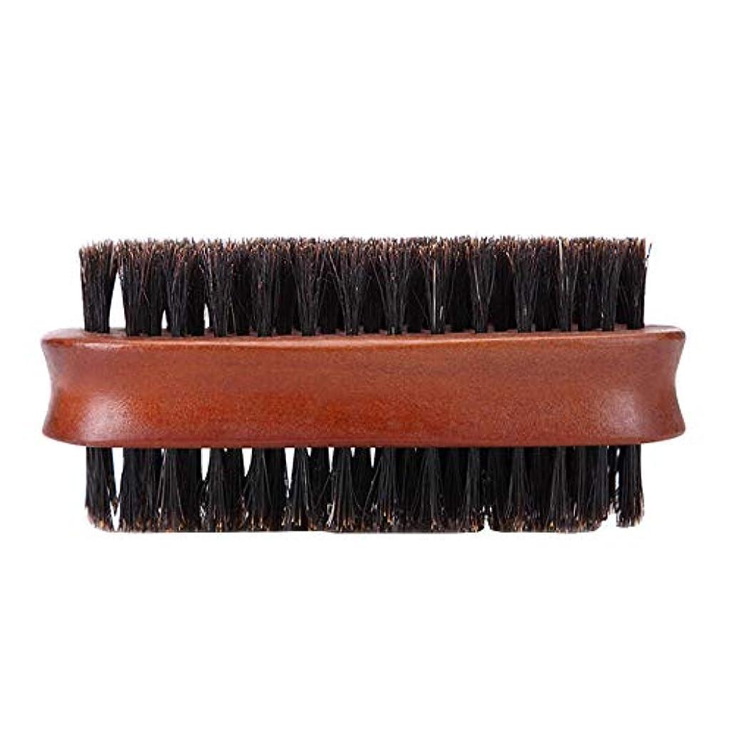口司法小さなメンズシェービングブラシ木製ブラシ髭ひげのスタイリング二国間のシェービング用品