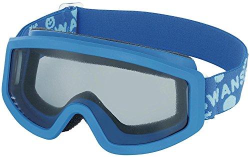 【国産ブランド】SWANS(スワンズ) 子供用 スキー スノーボード ゴーグル 3歳?10歳 シングルレンズ 101S BLBL ブルー×ブルー