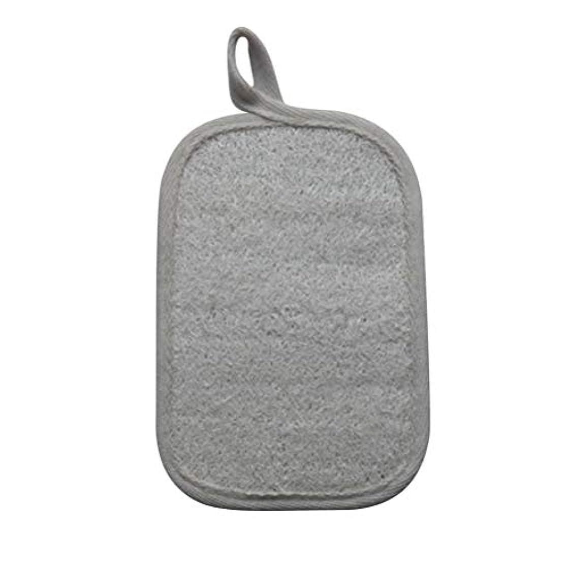 め言葉に変わる染色Healifty シャワーのための自然なLoofahのスポンジパッドの風呂の剥離のスポンジのスクラバーのブラシ