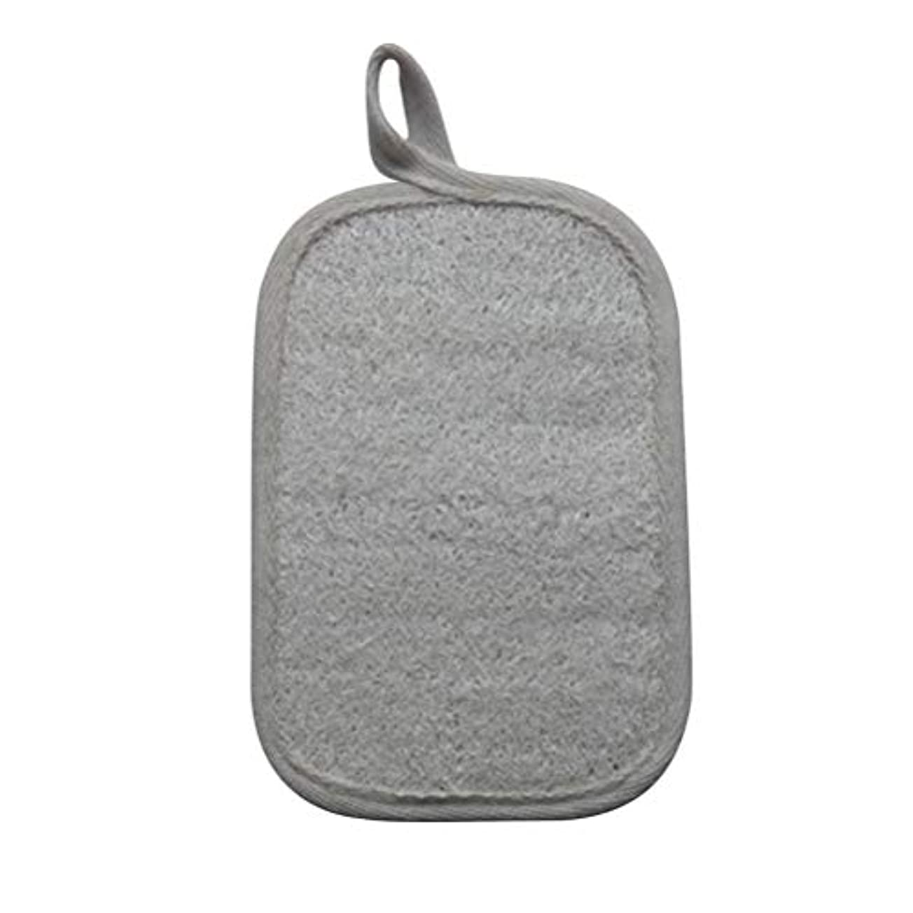 遠い謙虚吐き出すHealifty シャワーのための自然なLoofahのスポンジパッドの風呂の剥離のスポンジのスクラバーのブラシ