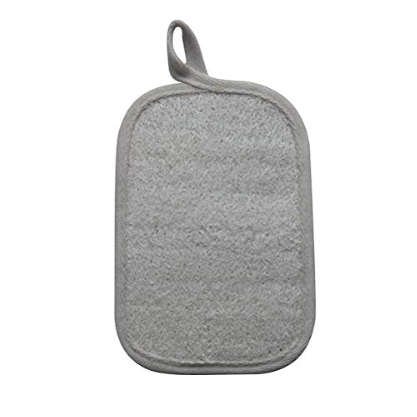 好戦的な摂動義務Healifty シャワーのための自然なLoofahのスポンジパッドの風呂の剥離のスポンジのスクラバーのブラシ