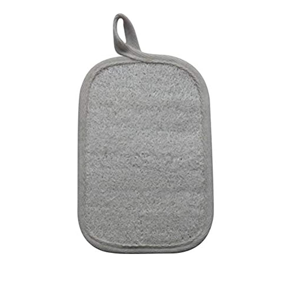 先のことを考える樫の木ラメHealifty シャワーのための自然なLoofahのスポンジパッドの風呂の剥離のスポンジのスクラバーのブラシ