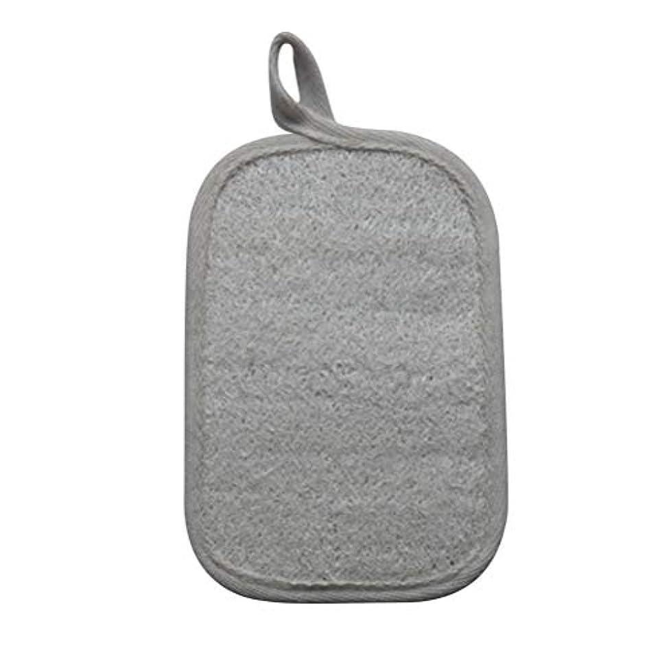 裁定章ミンチHealifty シャワーのための自然なLoofahのスポンジパッドの風呂の剥離のスポンジのスクラバーのブラシ