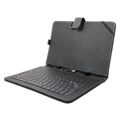 Android端末向けUSBキーボード付きレザーケース 10...
